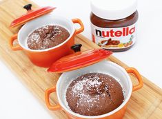 Lava Cake Recept, Nutella Lava Cake, Good Food, Yummy Food, Nutella Recipes, Lava Cakes, Cupcakes, Chocolate Cookies, Tasty Dishes