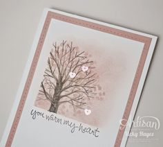 Heartwarming valentine with Sheltering Tree from Stampin' Up