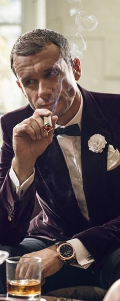 A real man always loves to smoke cigar.