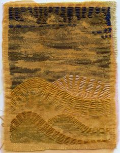 I wanna learn how to do this.  kantha stitching - I love the simplicity of this piece