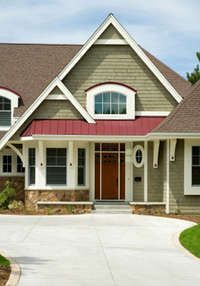Exterior House Colors Green sage green ranch home | green exterior paint color schemes