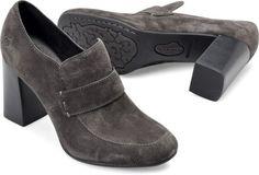 Born Mocho in Basalto Suede - Born Womens Heels on Bornshoes.com