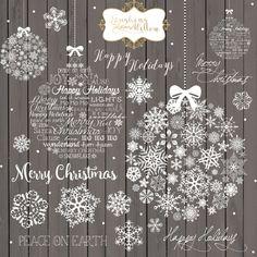 Imágenes Prediseñadas de Navidad pizarra por LaughingWillowDesign
