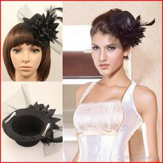 Women Black Party Cocktail Bridal Wedding Tulle Feather Flower Hair Clip Fascinator Mini Hat Headwear Evening Steampunk Dresses' Accessories Mother Of The Bride Hats Philip Treacy Hats From Sarahbridal, $10.81| Dhgate.Com