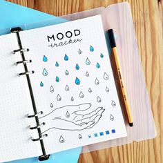 37 Fun Bullet Journal Mood Trackers That Will Make You Feel Better - - Tracking our emotions doesn't have to be boring. Here are some of the best fun and creative bullet journal mood trackers to fall in love with. Bullet Journal Tracker, Bullet Journal Doodles, Bullet Journal Weekly Spread, April Bullet Journal, Bullet Journal Notebook, Bullet Journal Themes, Bullet Journal Inspo, Bullet Journal Layout, Bullet Journal Inspiration Creative