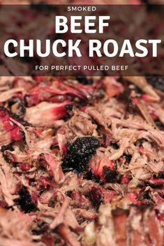 Smoked Beef Roast, Smoked Chuck Roast, Beef Chuck Roast, Bbq Beef, Chuck Steak, Smoked Ribs, Bbq Ribs, Pork Ribs, Smoked Roast Recipe
