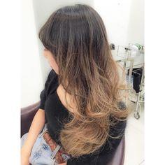 地毛ハイライトグラデーション #ヘアカラー#hair#color#地毛#ハイライト#グラデーション#ハイトーン#ブルージュ#春#love#ブルーフェーセス#bluefaces by mina.yokoyama