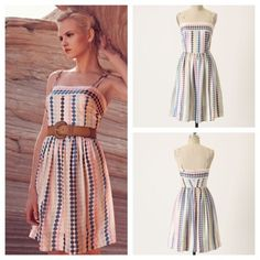 ❤️Rare❤️Cooling Palette Dress This is one of the most beautiful dresses I've ever owned but of course never wear the perfect vintage silhouette as if straight off a McCalls dress pattern in excellent used condition Anthropologie Dresses