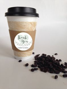 Items similar to Custom Coffee Sleeves, 24 Paper Coffee Sleeves, Hot Tea or Cocoa Cup Cuffs, Wedding Shower Favors, Espresso Bars and Buffets on Etsy Dessert Buffet, Dessert Bars, Espresso Bar, Coffee Sleeve, Personalized Labels, Coffee Time, Cocoa, Baby Shower, Tea