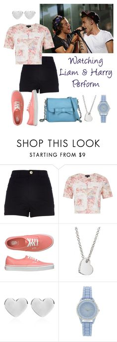 """""""Watching Liam and Harry Perform"""" by elise-22 ❤ liked on Polyvore featuring River Island, Vans, Coach, Dinny Hall, Knights and Roses, harrystyles and LiamPayne"""