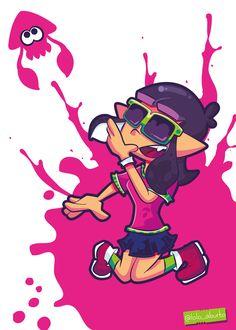 Inkling chica Splatoon  #Nintendo #fanart