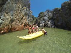 Kayak on water.Inonu bay