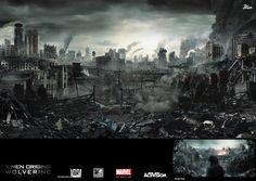 Wolverine: Apocalypse City // The Digital Matte Paintings and Character Art of Veteran Artist Jaime Jasso