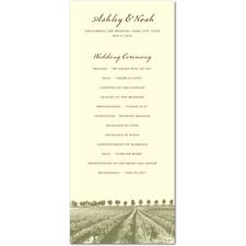 Rustic Romance Country or Vineyard Wedding Programs