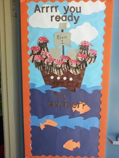 Pirate themed board for end of year