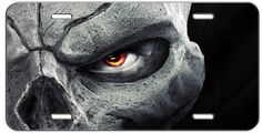 CUSTOM SCARY HALLOWEEN SKULL EYE LICENSE PLATE AUTO TAG #putapiconit