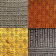 African textile designs - with so few colours the patterns make it so…