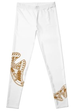 Golden Flight Leggings by Polka Dot Studio, new, #gold, #art deco #contemporary #butterfly design on #fashion #apparel for #her. Comfortable enough for #activewear or #yoga, dressy enough for a social event. Available in coordinating #tops, #accessories as well as #home #decor and #tech cases.