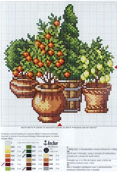 Little Spring/Summer Trees [Pattern / Chart] [Spring - Flowers- Cross Stitch]