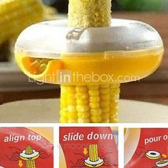 Magic Round Corn Kernels Threshing Thresher ,12*5cm - USD $ 5.99