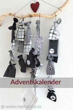 Black-white/ Adventskalender / advent calendar / calendrier de l'avent
