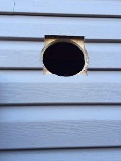 Garage heater, hole for exhaust Garage Heater