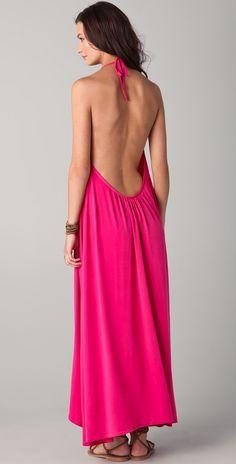 backless fuchsia maxi dress!