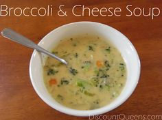 broccoli cheese soup Dinner on a Dime: Broccoli & Cheese Soup!