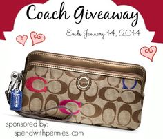 I love doing giveaways... this is just another way for me to say thank you to all of my wonderful readers! One lucky winner will receive this gorgeous Coach Wristlet! I LOVE this one! I have a little wristlet and I think it's perfect to carry...