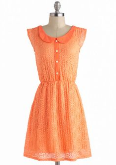 ModCloth - Orange Sweet As Sherbet Dress - Lyst Unique Dresses, Pretty Dresses, Orange Dress, Dress Red, Retro Vintage Dresses, Orange Fashion, Mod Dress, Embellished Dress, Stretch Dress