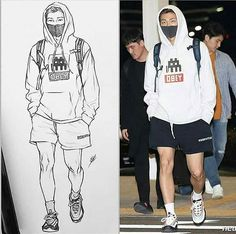 Dream Drawing, Girl Drawing Sketches, Cartoon Sketches, Kpop Drawings, Pencil Drawings, Arte Sketchbook, Figure Poses, Drawing For Kids, Drawing Ideas