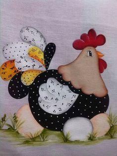 Gallina Chicken Crafts, Chicken Art, Diy Christmas Crafts To Sell, Quilt Block Patterns, Quilt Blocks, Sewing Crafts, Sewing Projects, Chicken Quilt, Cartoon Chicken