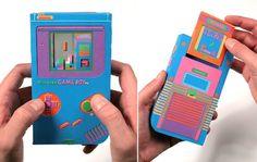 neon paper gameboy