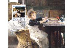 Kuva albumissa HELENE SCHJERFBECK - Google Kuvat. Toipilas 1888.  Ateneum, Helsinki. Foto: Matti Tirri. Maxi kortti FDC leimalla.