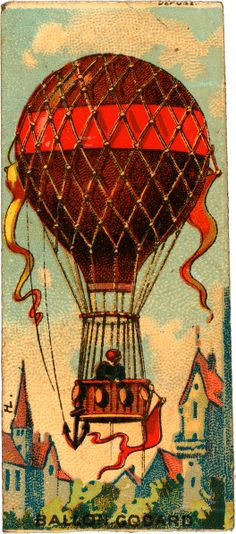 Ballon Godard, collecting card, 1860-1900
