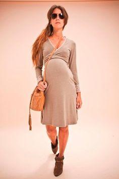 bfe959223 Vestido Para Embarazadas Modelo Rachel Cruzado Ideal -   439