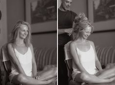 The Blushing Bride Getting Ready  - Candice Accola's Wedding – Best Wedding…
