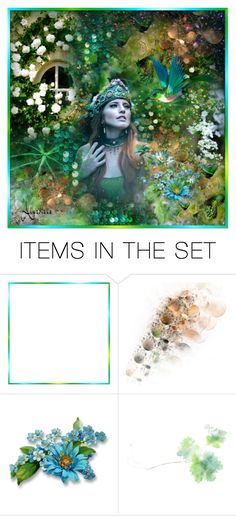 """""""Fanciful Garden"""" by almadiana ❤ liked on Polyvore featuring art"""