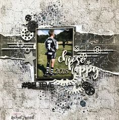 2 Crafty Chipboard : 'Choose Happy' layout by Rachael Funnell
