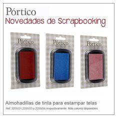 Tintas para estampar telas. #scrapbooking # manualidades