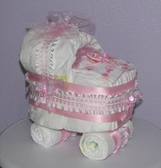 Diaper Carriage, Diaper Baby Carriage, Baby Shower Centerpiece, Baby Diaper Buggy Diaper Carriage, D Fiesta Baby Shower, Baby Shower Fun, Baby Shower Parties, Baby Shower Themes, Baby Shower Gifts, Shower Ideas, Baby Shower Baskets, Baby Shower Diapers, Diaper Shower
