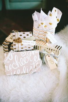 Gift wrap party | photo by Paige Jones | 100 Layer Cake