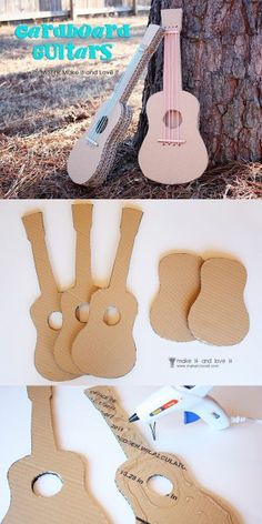 a-Gitarre aus × Preschool Music Activities, Kids Activities At Home, Preschool Crafts, Cardboard Box Crafts, Paper Crafts Origami, Kleenex Box Crafts, Music Instruments Diy, Homemade Instruments, Diy Crafts For Girls