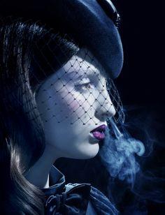 Georgina Stojiljkovic by Miles Aldridge for Vogue Nippon, September 2008