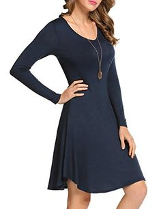 0933c6c64a HOTOUCH Women Casual ALine Dress Dress with Pocket     Click image to  review more details. (This is an affiliate link)  FashionDresses