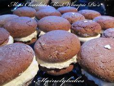Mini Chocolate Mint Woopie Pie's   Mainelybakes