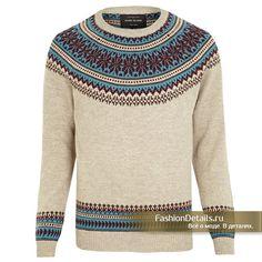 свитер с круглой кокеткой, классика!