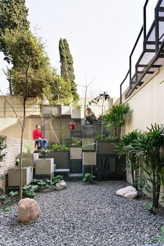 Tetris-Like Gardens Green Concrete Backyards in Buenos Aires : TreeHugger