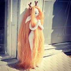faurik.dolls whimsical crochet doll