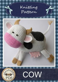 Cow - knitting pattern